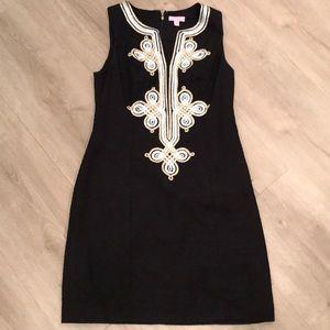Rare Black With Gold Mila Shift Dress 4
